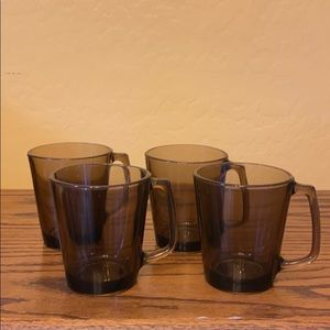 4 Pyrex Coffee Cups